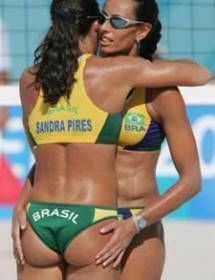 sexy beach volleyball female players