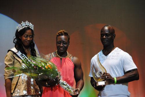 female bodybuilder honored
