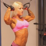 High Cable Bicep Curls for Female Bodybuilders