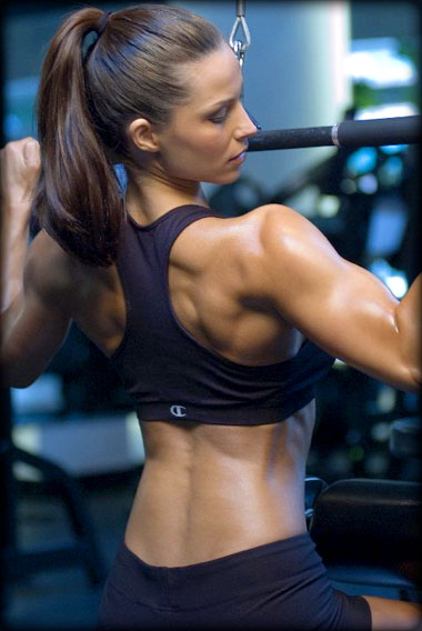 Wide Grip Lat Pulldowns For Women  Femalemuscle, Female -7671