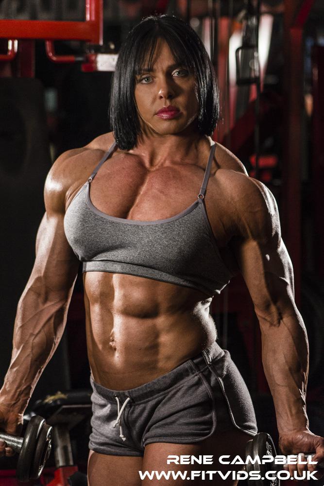 Rene Campbell, female bodybuilder