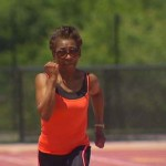 76-Year-Old Great-Grandmother Running Against Father Time On The Track