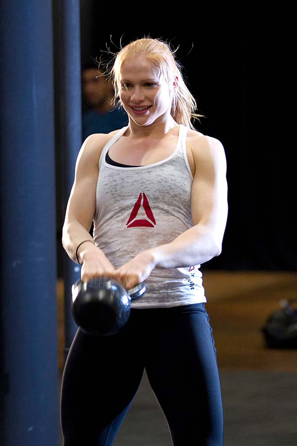 'Iceland' Annie Thorisdottir the only female Crossfit double world champion. Photograph: Dario Cantatore/Getty Images
