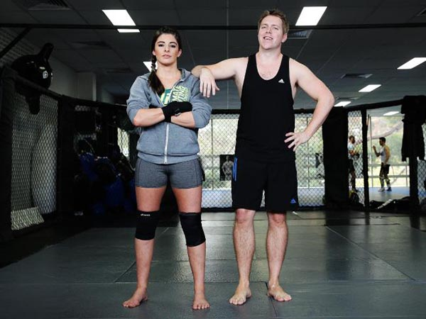 Men and women like Manly Daily journalist Bryn Kay and UFC star Alex Chambers often train together. Picture: Braden Fastier