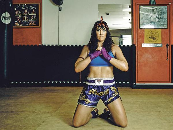 Muay Thai world champion Melissa Anderson is another body+soul warrior woman. Picture: Nigel Lough
