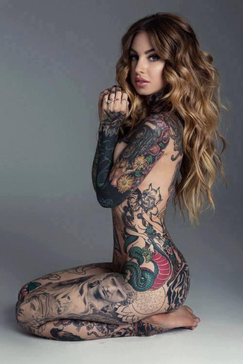 Female Bodybuilder tattoos