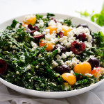 Sweet Cherry Shredded Kale Salad