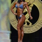 China's first female bodybuilding world championship at the 2017 Arnold Amateur championships: Mou Cong